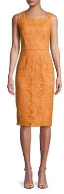 Adrianna Papell Crochet Lace Sheath Dress
