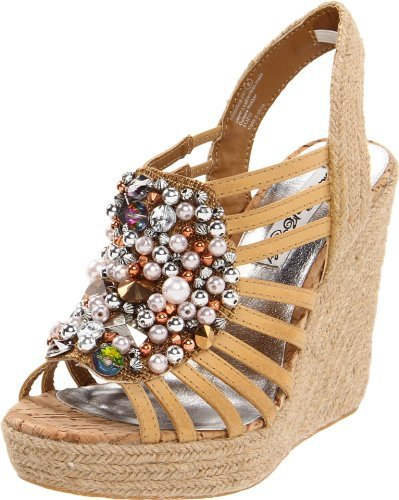 Naughty Monkey Women's Scream Queen Wedge Sandal