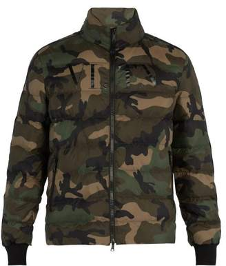 Valentino Camouflage Print Down Jacket - Mens - Green