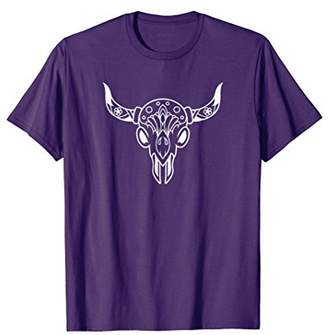 A Boho Inspired Shirt with A Skull and Horns