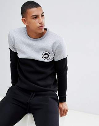 Hype sweatshirt in grey with contrast panel