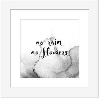 "PTM Images No Rain No Flowers Wall Art - 14\""x14\"""