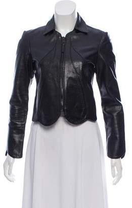 Balenciaga Embossed Leather Jacket