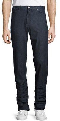 Peter Millar Summertime Straight-Leg Stretch-Denim Jeans, Blue $198 thestylecure.com