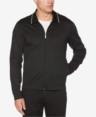 Perry Ellis Men's Zip-Front Heathered Jacket