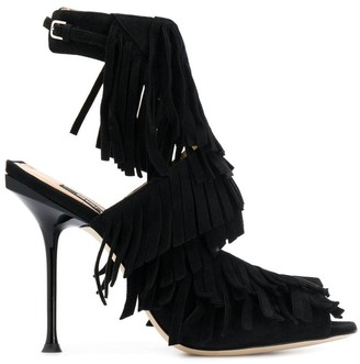 Sergio Rossi open-toe fringed sandals