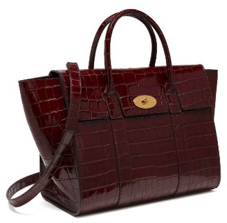 Mulberry Bayswater Leather Satchel - Burgundy $1,695 thestylecure.com