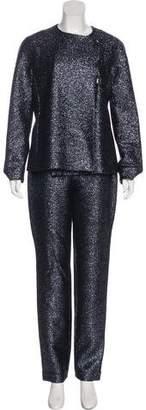 Gianni Versace Metallic Wool-Blend Pantsuit