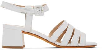 Maryam Nassir Zadeh White Palma Low Sandals