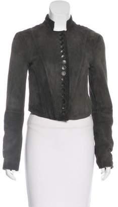 AllSaints Suede Button-Up Jacket