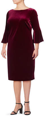 Calvin Klein Velvet Sheath Dress