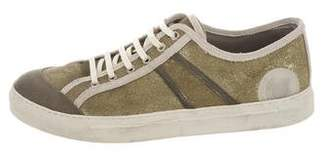 Marc Jacobs Metallic Leather Sneakers