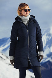 Lands' End Women's Tall Won't Let You Down Coat-Forest Night $209 thestylecure.com