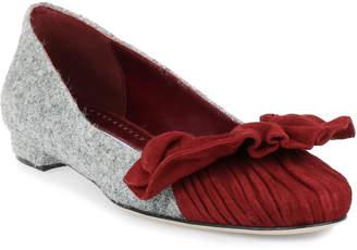 Manolo Blahnik Arleti Flat grey tweed ballerina