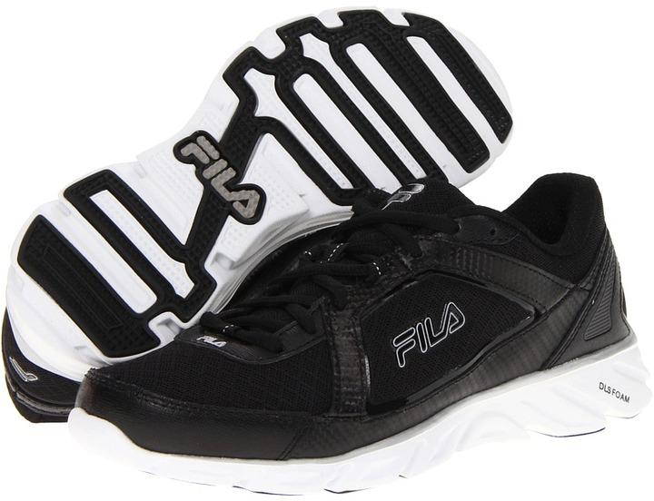 Fila Finest Hour (Black/Black/Metallic Silver) - Footwear