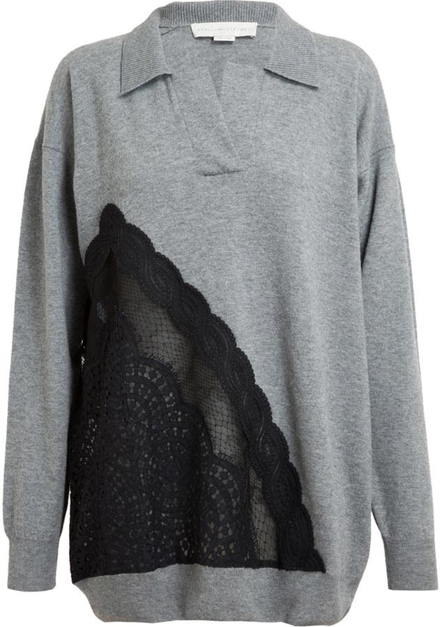 Stella McCartney Oversized Wool and Lace Tunic
