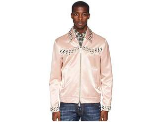 DSQUARED2 Shiny Cotton Studded Bomber Jacket
