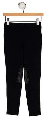 Ralph Lauren Girls' Pleather Trimmed Leggings w/ Tags