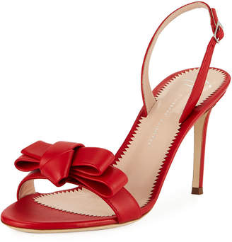 6cbabbc72f7 Giuseppe Zanotti Red Leather Women s Sandals - ShopStyle