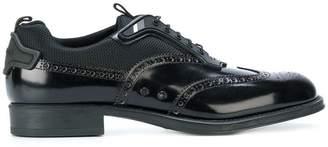 Prada contrast panel brogue shoes