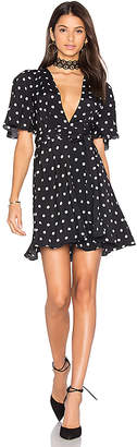 House of Harlow 1960 x REVOLVE Harper Wrap Dress in Black $158 thestylecure.com