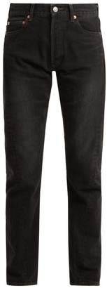 Balenciaga Twisted Seam Straight Leg Jeans - Womens - Black
