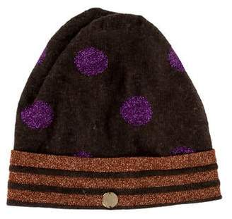 Marc by Marc Jacobs Wool-Blend Patterned Beanie