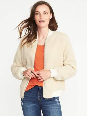 Old Navy Sherpa Bomber Jacket for Women