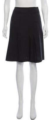 Cacharel Pleated Knee-Length Skirt