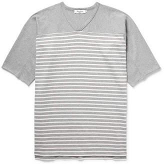 Nonnative Trainer Striped Cotton-Jersey T-Shirt