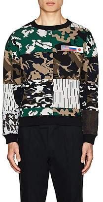Gosha Rubchinskiy Men's Patch-Detailed Camouflage Knit Sweater