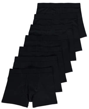 Black Jersey A-Front Fly Trunks 7 Pack