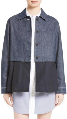 Elizabeth and James York Denim Jacket with Removable Peplum $495 thestylecure.com