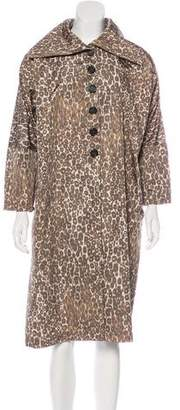 Derek Lam Silk Printed Coat