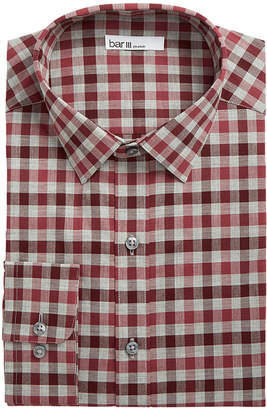 Bar III Men's Slim-Fit Stretch Bold Heather Gingham Dress Shirt