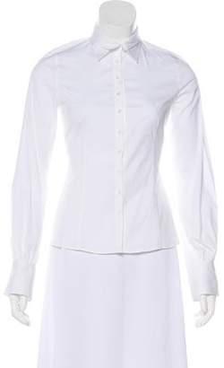 Armani Collezioni Woven Button-Up Top