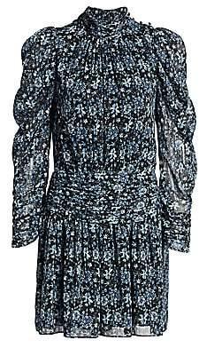 ML Monique Lhuillier Women's Ruched Floral Dress