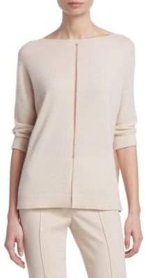 Akris Tulle Stripe Pullover Sweater