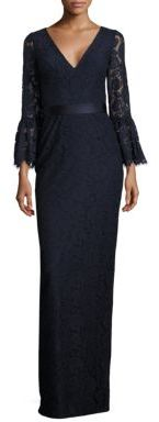 Theia Bell Sleeve Lace Gown $750 thestylecure.com