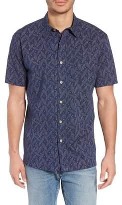 Pendleton Regular Fit Print Short Sleeve Sport Shirt