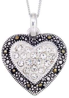 Lord & Taylor Crystal Heart Pendant Necklace