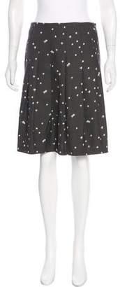Akris Punto Knee-Length Printed Skirt