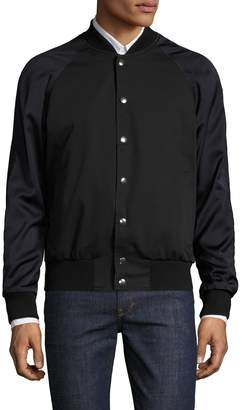 Dries Van Noten Men's Cotton Raglan Colorblock Varsity Jacket