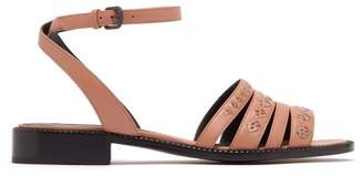 Bottega Veneta Ayer Woven Leather Sandals - Womens - Pink