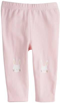 Baby Girl Jumping Beans Bunny Ruffle-Back Leggings