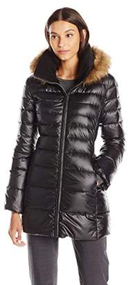 Lark & Ro Women's Three Quarter Length Down Coat