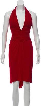 Azzaro Halter Mini Dress