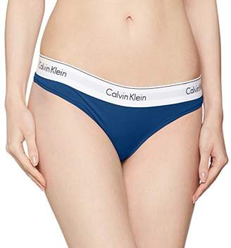 Calvin Klein Women's 0000F3786E Thong - Blue