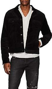 ATM Anthony Thomas Melillo Men's Sherpa-Lined Cotton Corduroy Jacket - Black