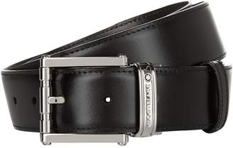 Montblanc Reversible Silver Buckle Belt